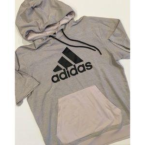 Adidas 3 Stripe Hoodie Pullover Streetwear NWOT
